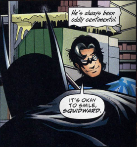 This is actually one of the better panels, but I'm a Nightwing fan.