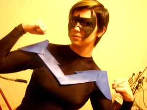 Me as Nightwing, again somewhat literally.